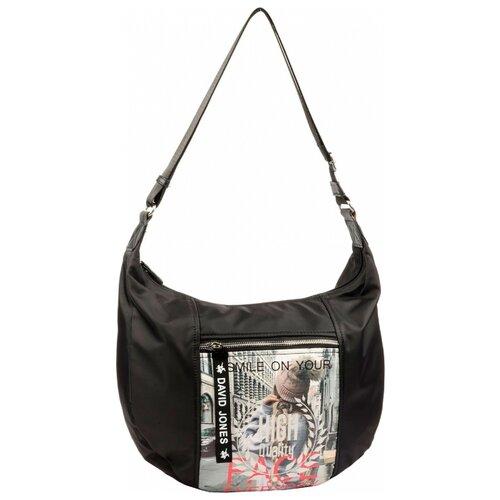 Сумка хобо DAVID JONES 5960-1, текстиль сумка женская david jones цвет серый 5643 1 d grey