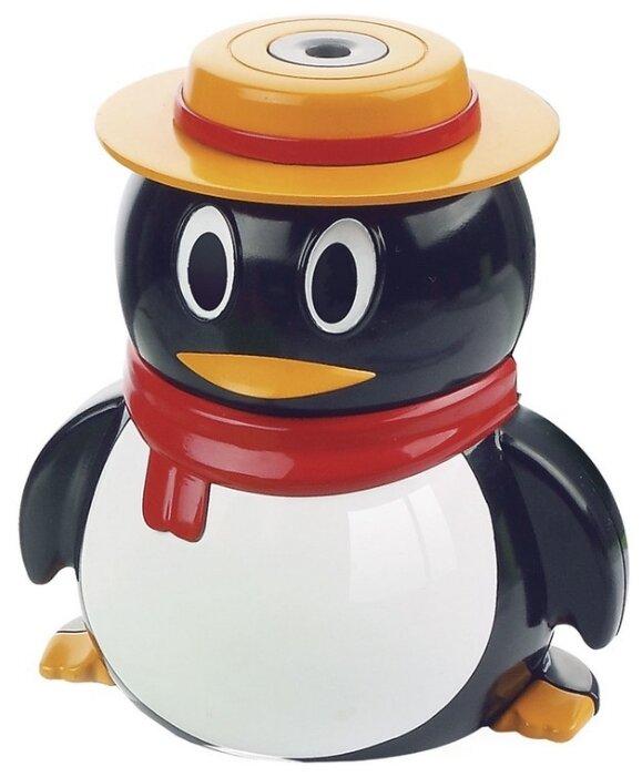 Точилка электрическая BRAUBERG, питание от USB/4 батареек АА, пингвин