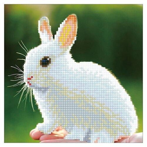 ФРЕЯ Набор алмазной вышивки Белый кролик (ALV-6) 22х22см