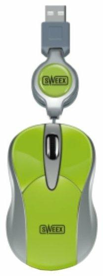 Мышь Sweex MI155 Notebook Optical Mouse Lime Green USB