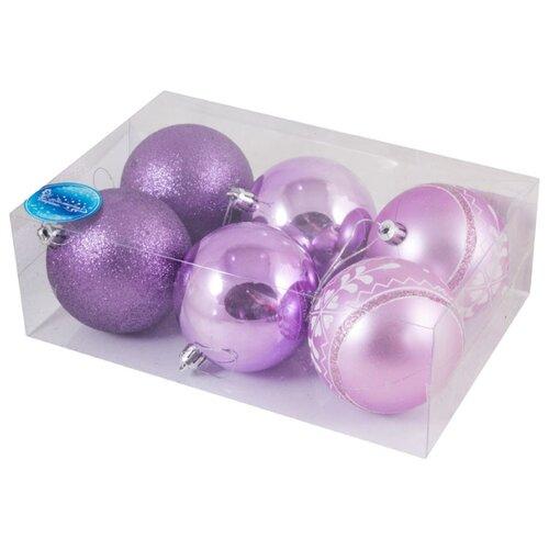 Набор шаров Волшебная страна SYCB17-315, фиолетовый, 6 шт. недорого