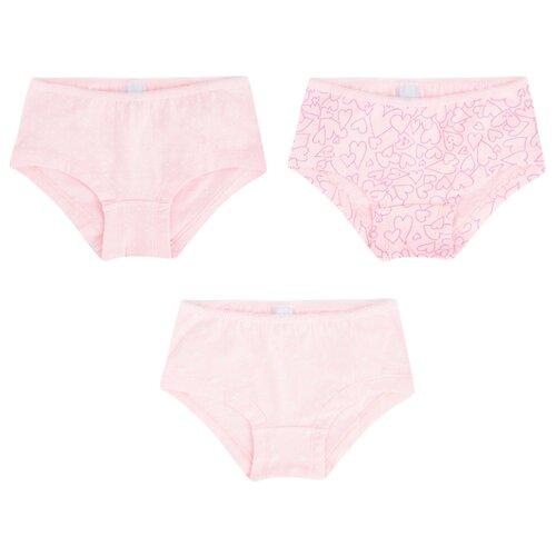 Купить Трусики Leader Kids 3 шт., размер 98-104, розовый, Белье и купальники