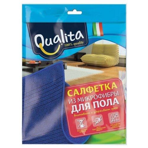Салфетка из микрофибры Qualita для пола салфетка для пола elfe хб белая 500х700