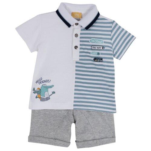 Купить Комплект одежды Chicco размер 98, белый/серый, Комплекты и форма