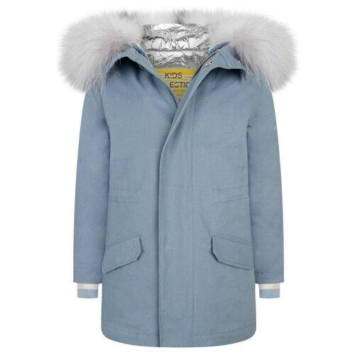Парка Yves Salomon 20WEM004XXEM3X размер 152, B1688 голубой кроссовки мужские salomon snowcross 2 cswp цвет черный l40470400 размер 12 46