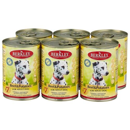 Фото - Влажный корм для собак Berkley (0.4 кг) 6 шт. Паштет для собак. Говядина с картофелем 6шт. х 400г влажный корм для собак berkley 0 4 кг 6 шт паштет для собак оленина с коричневым рисом 6шт х 400г