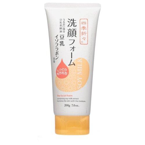 Фото - KUMANO очищающая пенка для лица с соевым молоком, 200 г kumano cosmetics natural oil пенка для умывания с лошадиным маслом очищающая для жирной кожи 130 г