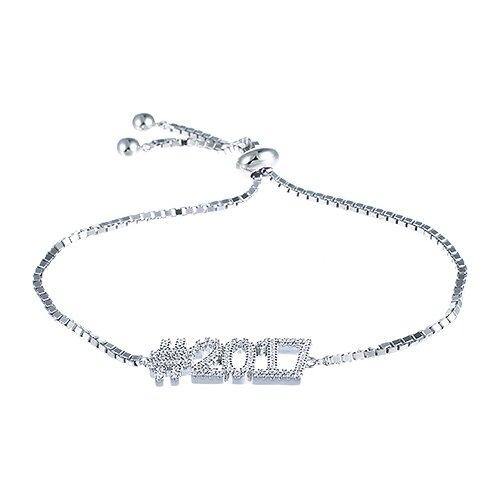 JV Браслет с фианитами из серебра SB28041-BT-001-WG, 18 см, 6.22 г jv браслет с фианитами из серебра 5252br2501 bt 001 wg 18 см 2 86 г