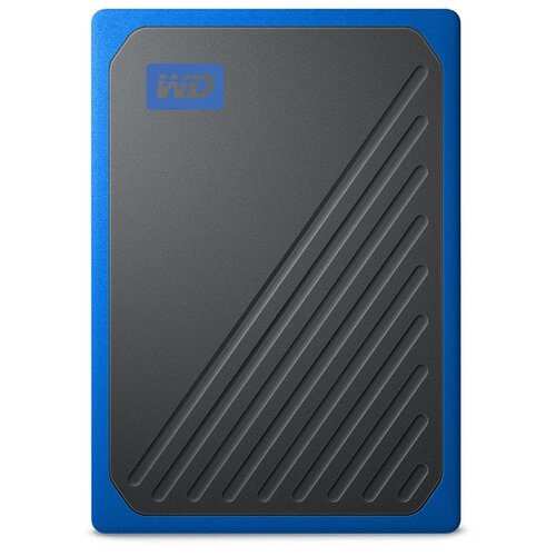 Фото - Внешний SSD Western Digital My Passport Go 500 ГБ blue western digital wdblhr0020bbl eeue my passport 2 5 синий