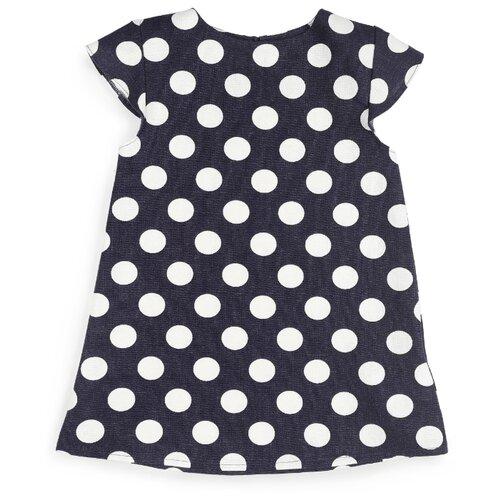 Платье Happy Baby размер 86-92, темно-синий платье для девочки lucky child романтик цвет белый красный темно синий 18 61 размер 86 92 2 года