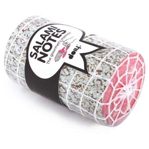 Doiy Блок для записей Salami розовый/серый