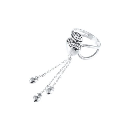 JV Кольцо с фианитами из серебра SS-B0952RB-KO-001-WG, размер 16 jv кольцо с фианитами из серебра r27208 ko 001 wg размер 16