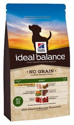 Корм для собак Hill's Ideal Balance для здоровья кожи и шерсти, курица с картофелем 2 кг
