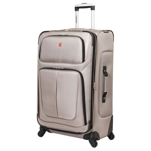 сумка планшет wenger текстиль светло серый Чемодан WENGER SION L 90 л, светло-серый