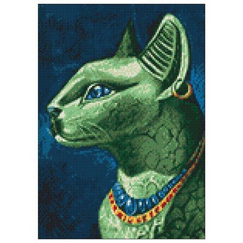 Фото - Гранни Набор алмазной вышивки Изумрудная кошка (Ag 6026) 27х38 см гранни набор алмазной вышивки радужный слон ag 482 27х38 см