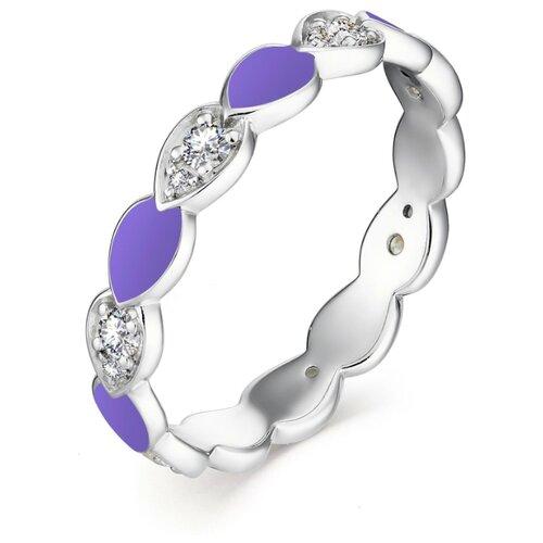 АЛЬКОР Кольцо с 14 фианитами из серебра 01-1305-ЭМ69-00, размер 18 алькор кольцо с 14 фианитами из серебра 01 1305 эм69 00 размер 18