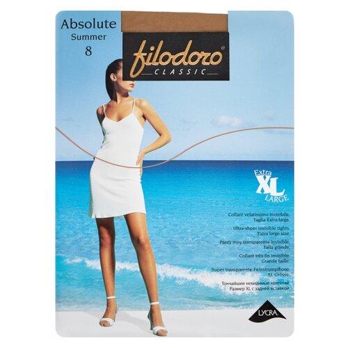 Колготки Filodoro Classic Absolute Summer XL 8 den, размер 5-XL, playa (бежевый) колготки filodoro classic ninfa 40 den размер 5 xl playa бежевый