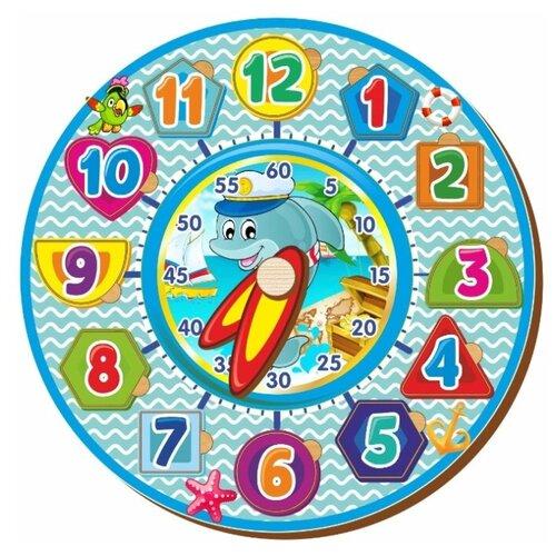 Купить Часы-пазл Woodland Часы-вкладыши 2 (094202), 12 дет., Пазлы