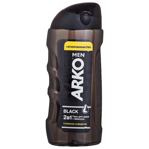 Гель-шампунь для душа Arko Black, 260 мл фото