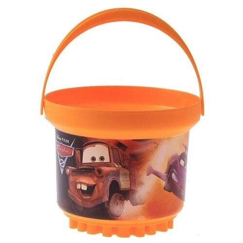 Купить Ведро Росигрушка детское 3 л с фигурным дном Disney BOMB 1034, оранжевый, Наборы в песочницу