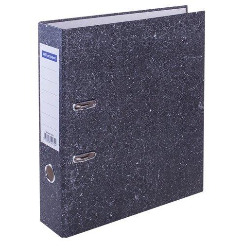 Купить OfficeSpace Папка-регистратор A4, мрамор, 70 мм черный, Файлы и папки