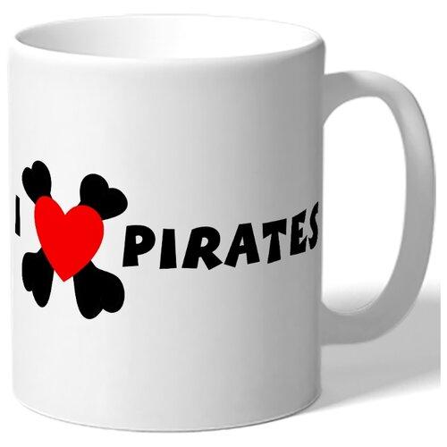 Кружка I love pirates , Я люблю пиратов