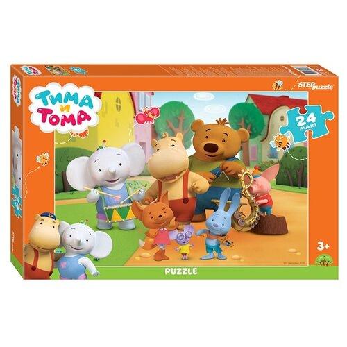 Пазл Step puzzle Maxi Тима и Тома (90066), 24 дет. пазл step puzzle maxi даша путешественница 90050 24 дет
