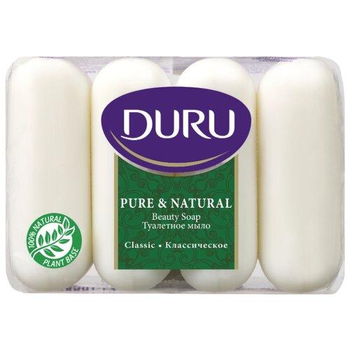 Мыло кусковое DURU Pure & natural Классическое, 4 шт., 85 г мыло кусковое duru fresh sensations цветочное облако 150 г