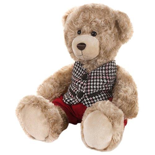 Купить Мягкая игрушка Maxitoys Мишка Ричард в клетчатой жилетке и красных штанишках 20 см, Мягкие игрушки