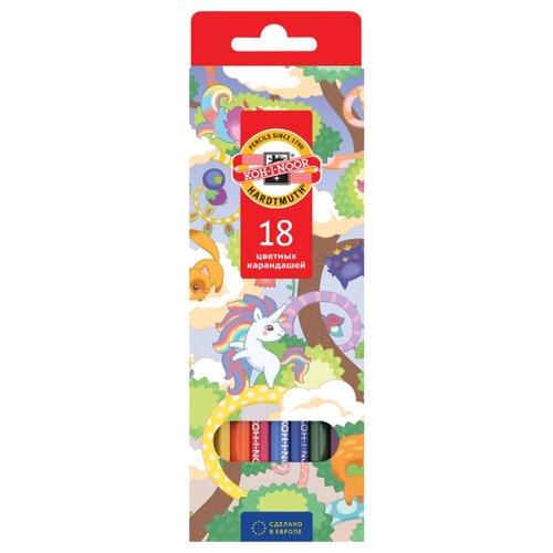 Купить KOH-I-NOOR Карандаши цветные Волшебный лес, 18 цветов (3553018037KS), Цветные карандаши