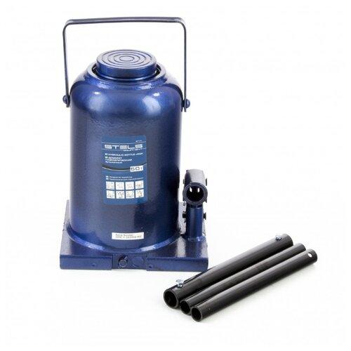 Домкрат бутылочный гидравлический Stels 51171 (50 т) синий