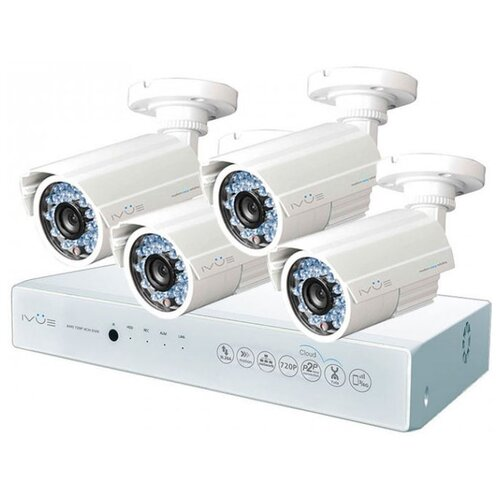 цена на Комплект видеонаблюдения IVUE D5004-AHC-B4 4 камеры