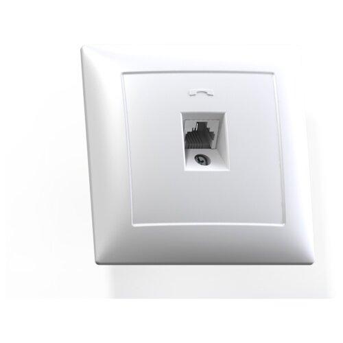 Розетка для интернета / телефона Кунцево-ЭлектроРТ1-398, 10 А, белый