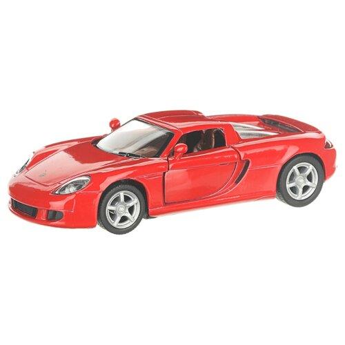 Купить Детская инерционная металлическая машинка с открывающимися дверями, модель Porsche Carrera GT, красный, Serinity Toys, Машинки и техника