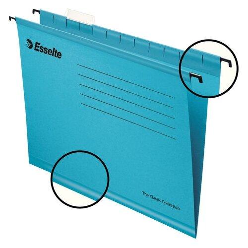 Купить Esselte Папка подвесная Classic А4, картон, 25 шт синий, Файлы и папки