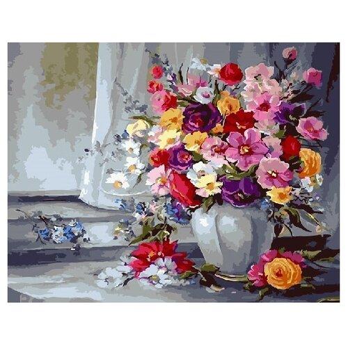 Купить ВанГогВоМне Картина по номерам Букет для Наденьки , 40х50 см (ZX 21700), Картины по номерам и контурам