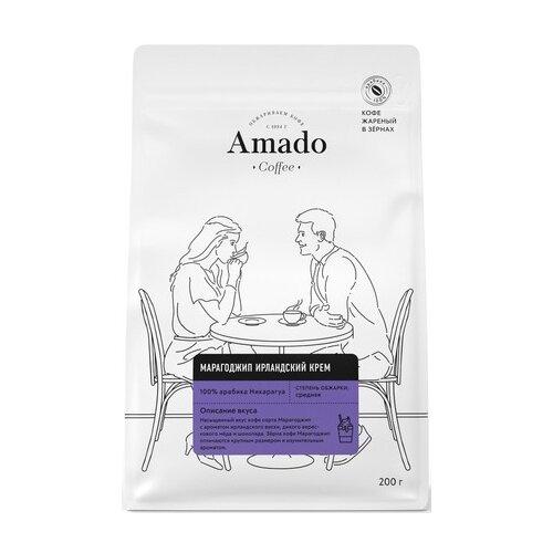 Кофе в зернах Amado Марагоджип Ирландский Крем, арабика, 200 г