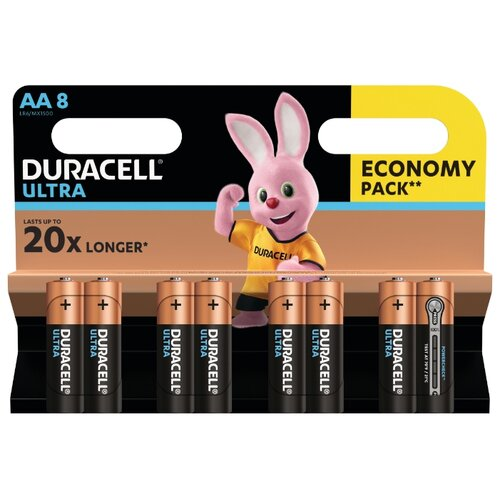 Фото - Батарейка Duracell Ultra Power AA/LR6 8 шт блистер батарейка duracell ultra power aaa lr03 12 шт блистер