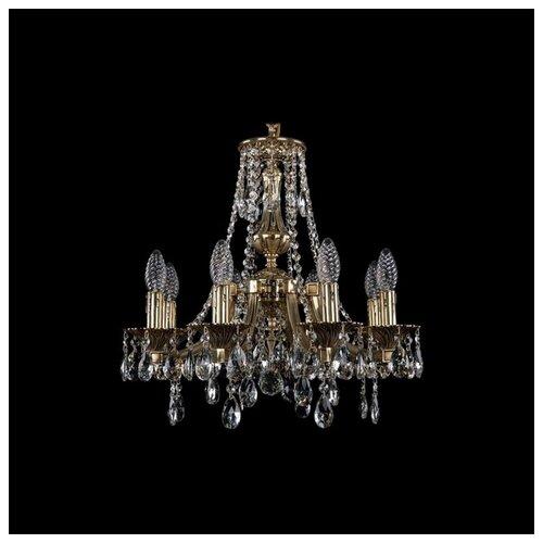 Фото - Люстра Bohemia Ivele Crystal 1771 1771/8/150/A/GB, 320 Вт люстра bohemia ivele 1771 6 150 a g