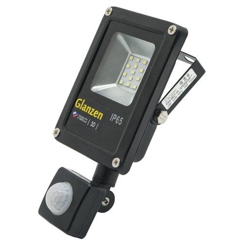 Прожектор светодиодный с датчиком движения 10 Вт Glanzen FAD-0017-10