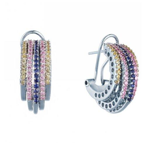JV Серебряные серьги с кубическим цирконием DM1371-1-TTE-SR-001-WG
