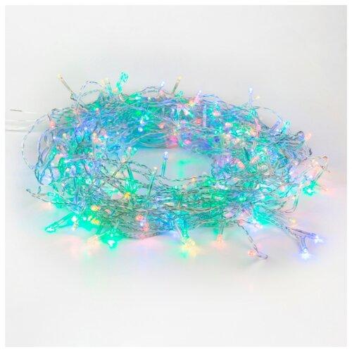 Гирлянда NEON-NIGHT Твинкл Лайт, 25 LED, 400 см, 25 ламп, мультиколор/прозрачный провод гирлянда neon night колокольчики 20 led 280 см 20 ламп разноцветный зеленый провод