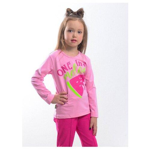 Лонгслив looklie размер 122-128, розовыйФутболки и майки<br>
