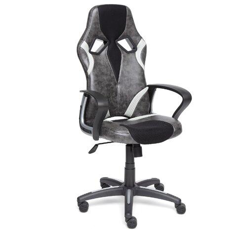 Компьютерное кресло TetChair Runner игровое, обивка: текстиль/искусственная кожа, цвет: черный/серый 2 tone компьютерное кресло tetchair runner игровое обивка текстиль искусственная кожа цвет черный желтый