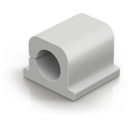 Фиксатор для кабеля до 8мм DURABLE CAVOLINE® CLIP PRO 1 серый 6шт./уп.