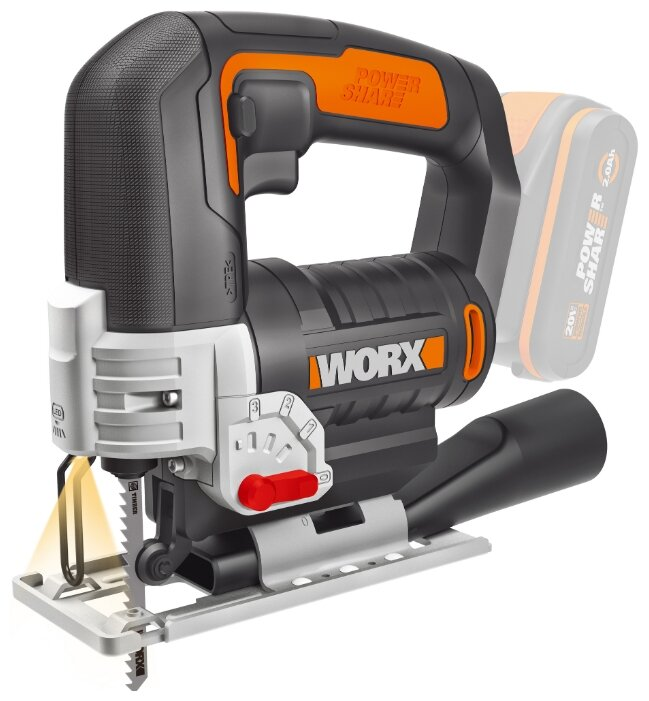Электролобзик Worx WX543.9 0 коробка