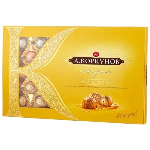 "Набор конфет Коркунов ""Ассорти"" молочный шоколад 256 г желтый"