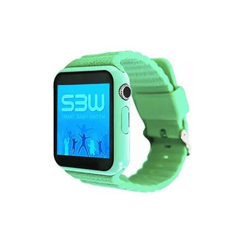 Детские умные часы Smart Baby Watch SBW 2, зеленый детские умные часы c gps smart baby watch s4 зеленый черный