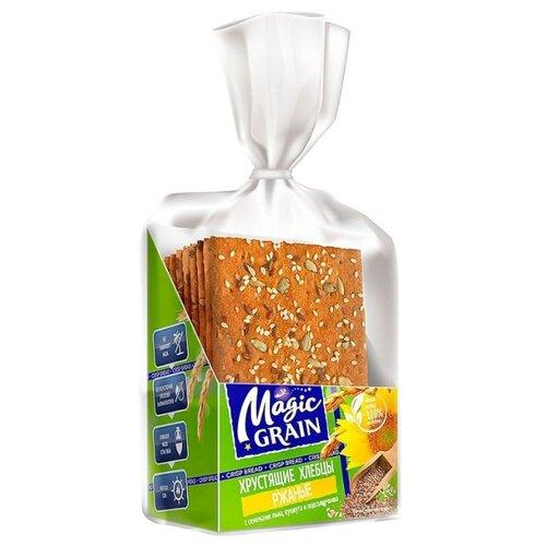 Хлебцы ржаные Magic Grain с семенами льна, кунжута и подсолнечника 160 г батончик злаковый fortuche вишня с семенами подсолнечника льна тыквы 25 г