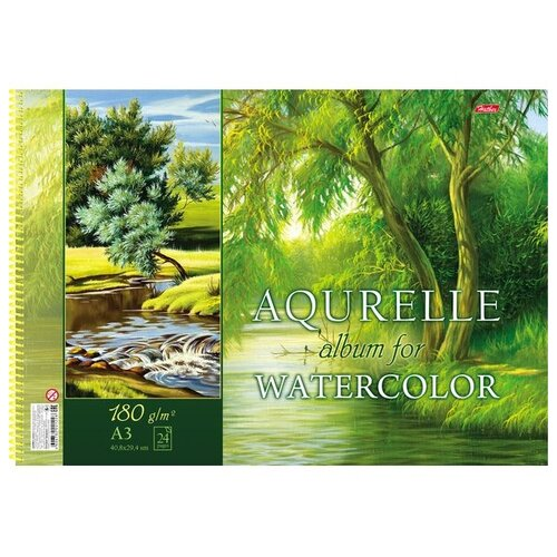 Купить Альбом для акварели Hatber Поэзия природы 42 х 29.7 см (A3), 180 г/м², 24 л., Альбомы для рисования